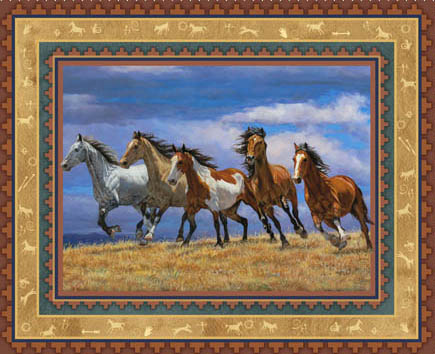 Freedom Horses by Springs - Horse Panel/Wallhanging