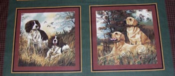 Gun Dogs - Set of 2 panels - Spaniels & Retrievers SHORT CUT