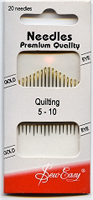 Needles - Quilting - Sizes 5-10 Hand Sewing