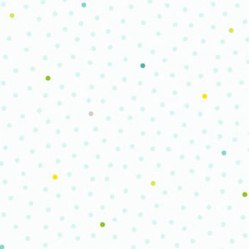 Ho Ho Ho Let It Snow by Benartex - Snow Dots Aqua/White - 35CMS