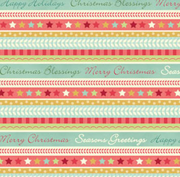 Home For The Holidays by Benartex - Pencil Stripe Aqua