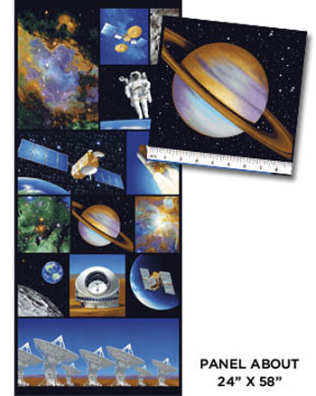 I Want My Space - Space Explosion Multi Panel - 150cms Wide