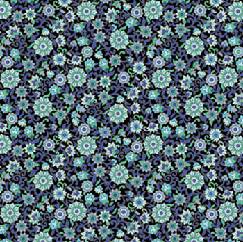 Imperial Gardens by Benartex - Small Floral - Blue - 70CMS