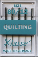 Needles - Machine - Klasse Quilting Size 80/12