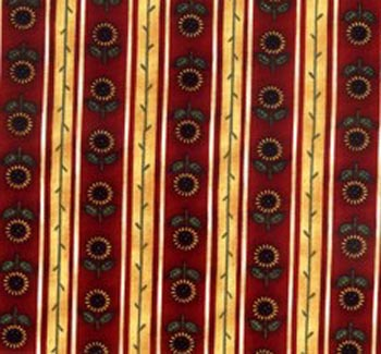 La Petit Provence by Debbie Mumm Sunflower Stripe Red