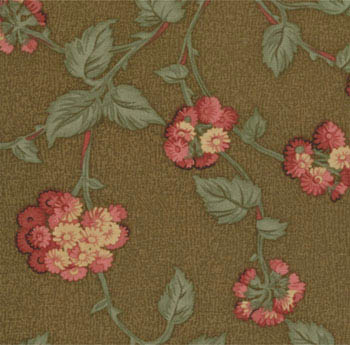 Looking Back Moda Fabric - Herb Garden Floral Brown