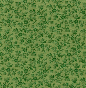 Muted Moments Floral Vine Moss Green Classic Cottons