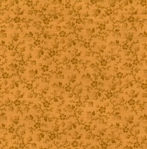 Muted Moments Floral Vine Old Gold Classic Cottons