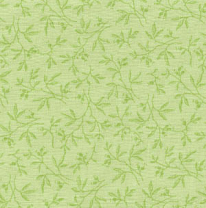 Muted Moments Tossed Sprig Sea Green Classic Cottons