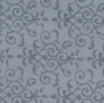 Making New Friends Moda Fabric - Holly Damask Winter Blue