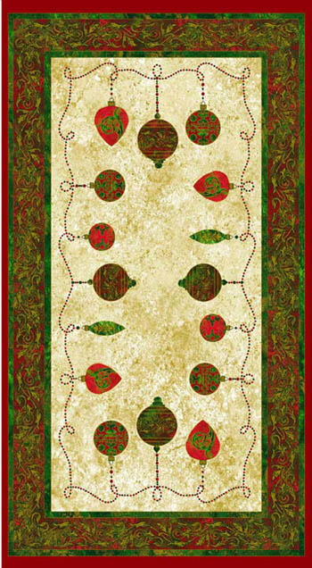 Marblehead Metallic Xmas - Baubles Christmas Panel