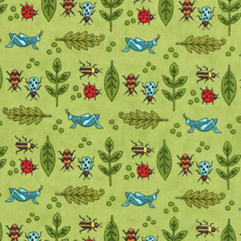 Meadow Friends by Moda - Bug Collection Grass Green
