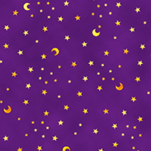Merlin's Dragons by Quilting Treasures - Moon & Stars Purple