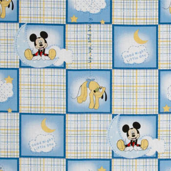 Mickey Good Night by Springs - Patchwork Plaid