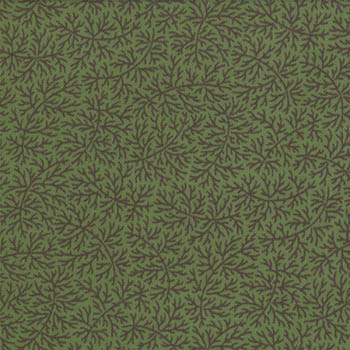 Mill Book by Moda - Delicate Fern - Dark Green