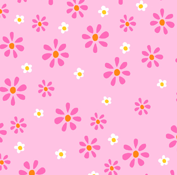 Mommy & Me by Newcastle Fabrics Pink Daisies on Pink