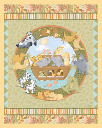 Noah's Ark Two of a Kind by Springs - Cot Panel/Wallhanging