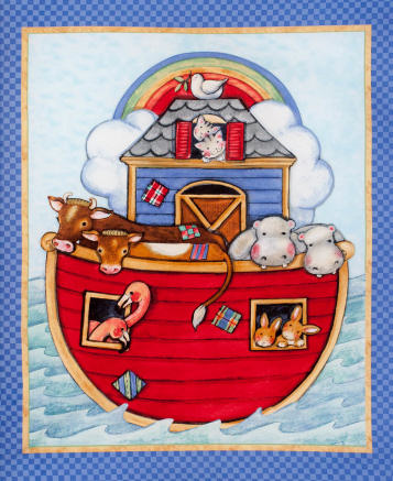 Noah's Ark by Springs Creative - Cot Panel/Wallhanging