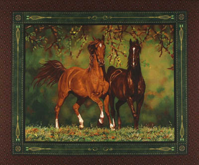 Noble Stature Horses by Springs - Horse Panel/Wallhanging
