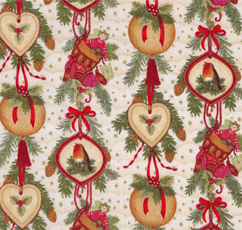 Noel by Makower Fabrics UK - Christmas Garland