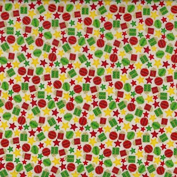 Novelty Christmas by Makower Fabrics UK - Mini Presents