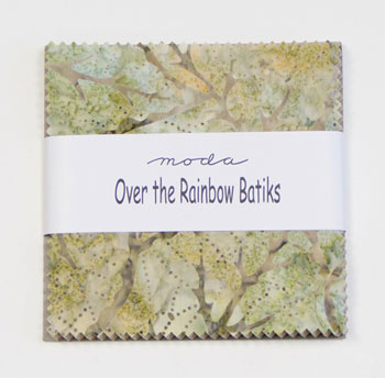 Over The Rainbow Moda Charm Squares - Naturals Batiks 41010