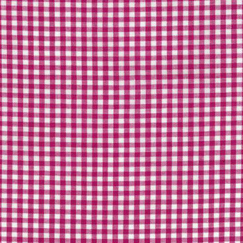 Carolina Gingham Collection by Robert Kaufman - Fuschia 1/8