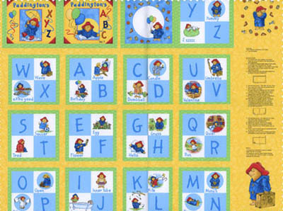 Paddington's ABC by Quilting Treasures - Book Panel