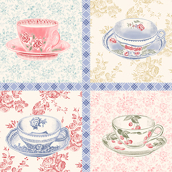 Penelope by Lakehouse Teacups Blocks/Panel Toile