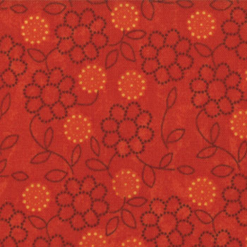 Phenomenal Fall Moda Fabric - Floral Swirl Fire - 75cms