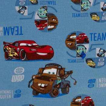 Disney Pixar Cars The Race Team on Blue by Springs Creative