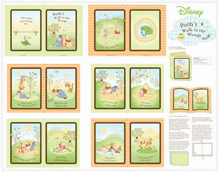 Pooh Nature Walk in the Woods by Springs - Book Panel