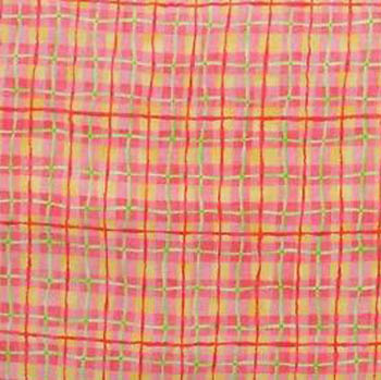 Princess Boutique Benartex Fabric - Peach/Orange Check/Plaid