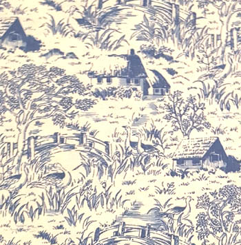 Quilt Collectible Blue Toile