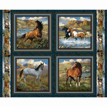 Rhapsody West by Springs Creative - Set of 4 Cushion Panels