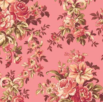 Love's Promise by Quilting Treasures - Ribbon Floral Pink