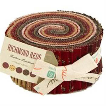 Richmond Reds by Barbara Brackman for Moda - Jelly Roll