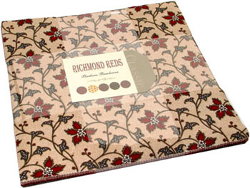 Richmond Reds by Barbara Brackman for Moda - Layer Cake