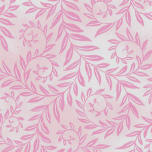 Romantic Hearts Leaves on Pale Pink by Classic Cottons