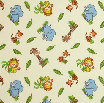 Safari by Springs - Animal Toss Ivory Flannel - 40CMS
