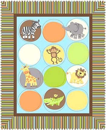 Safari Tots by Springs - Cot Panel/Wallhanging