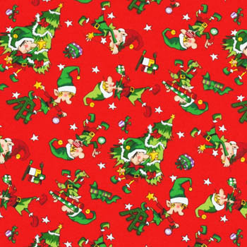 Santa's Workshop - Santas Little Helpers Red - 80CMS