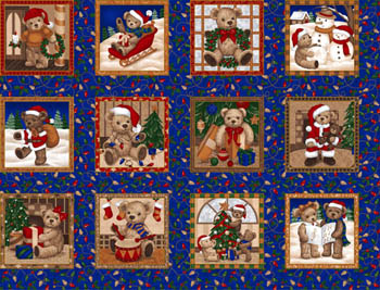 Seasons Greetings by Fabri-Quilt - Teddy Blocks/Labels