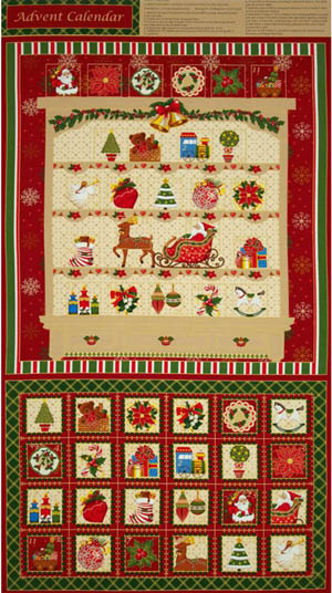 Seasons Greetings by Fabri-Quilt - Advent Panel 3