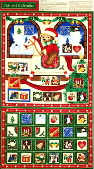 Seasons Greetings by Fabri-Quilt - Advent Panel 2
