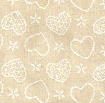 Sevenberry Fabrics Naturals - Hearts on Natural