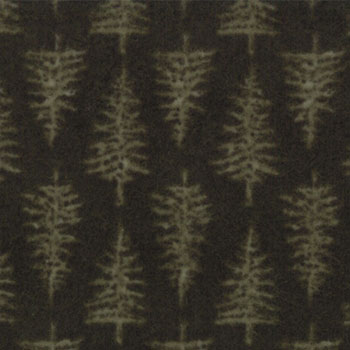 Shaded Oaks Flannel by Moda - Pine Print Forest Green