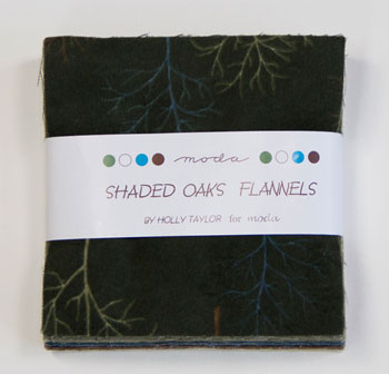 Shaded Oaks Flannel by Moda - Charm Squares