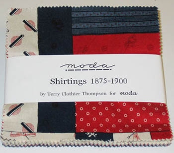 Shirtings 1875-1900 Moda Fabric - Charm Squares Pack