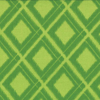 Simply Color by Moda Fabrics - Ikat Diamonds Lime Green